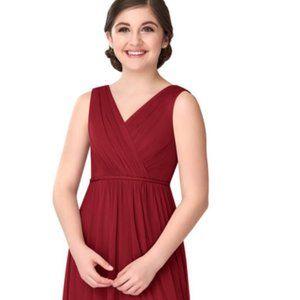 AZAZIE TANICIA Junior Bridesmaid Dress 10 Burgundy